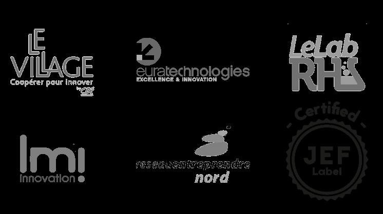 Nos partenaires : Le Village by CA, Euratechnologies, Le LabRH...